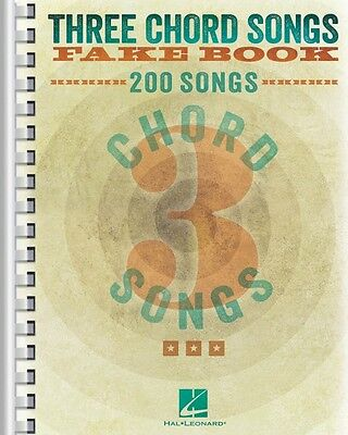 Three Chord Songs Fake Book Sheet Music Real Book Fake Book NEW 000240387 on Rummage