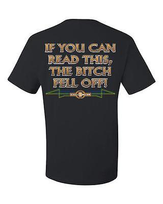 - If You Can Read This The Bitch Fell Off T-Shirt Funny Biker Motorcycle Tee Shirt
