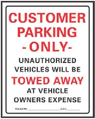 10 Hy-ko 700 19 X 15 Hd Plastic Customer Parking Only Signs