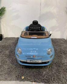 Fiat 500 6V Replica Smooth Blue Powered Ride On Car No211015