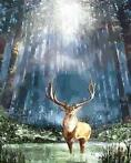 DIAMOND PAINTING ! Forest Deer 40 x 30 cm / 13.90euro