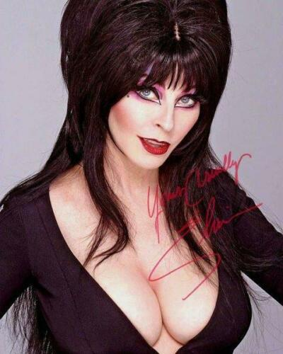 REPRINT - ELVIRA Mistress in the Dark Signed 8 x 10 Photo Poster RP