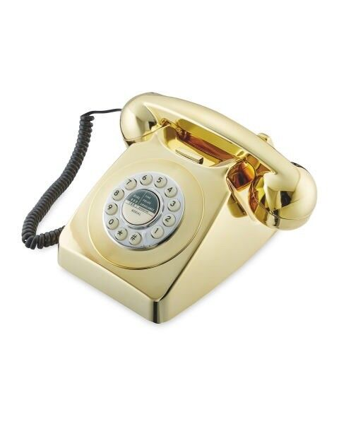 GOLD Retro Style Dial Phone
