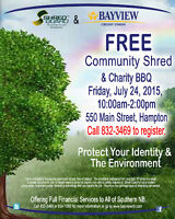 FREE Community Shred and Charity BBQ