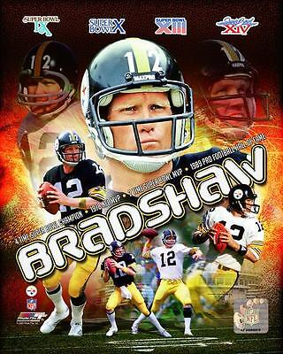 TERRY BRADSHAW ~ 8x10 Color Photo Picture Collage ~ Pittsbur