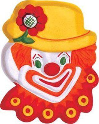 Circus Cakes (1 Clown Flat Cake Topper  Carnival)