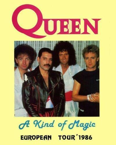 QUEEN Band 1986 European Tour Freddie Mercury 8 x 10 Glossy Poster Print