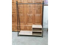 Turner Clothes Rail with Drawer Boxes - Black No240322
