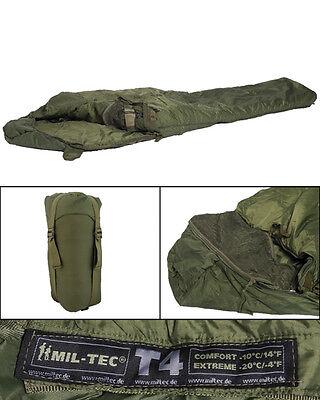 Schlafsack Tactical 4 oliv, BW, Camping, Outdoor, Kälteschutz         -NEU-