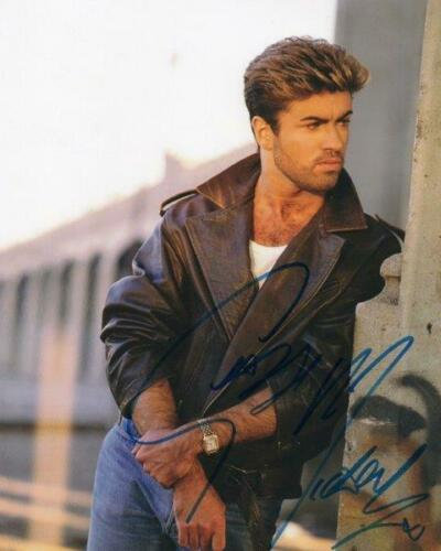 REPRINT - GEORGE MICHAEL Wham Signed 8 x 10 Glossy Photo Poster RP
