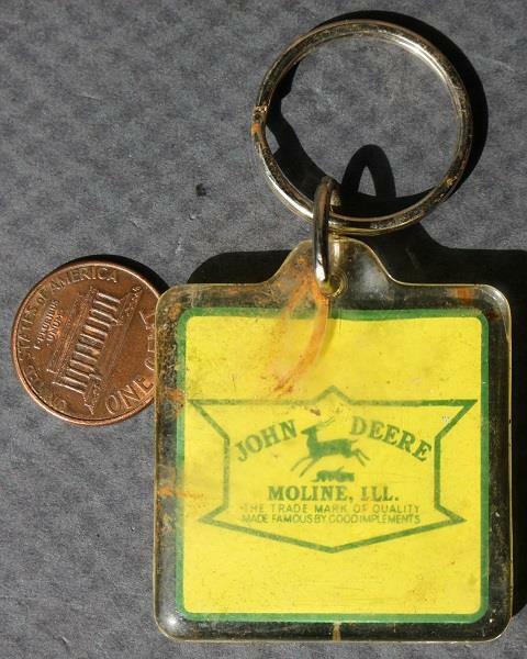 1970-80s Era John Deere Tractors New A & B Series keychain-VINTAGE COOL!*