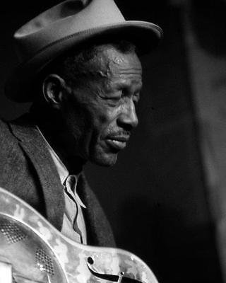 SON HOUSE Blues Guitar B&W Glossy 8 x 10 Photo Print