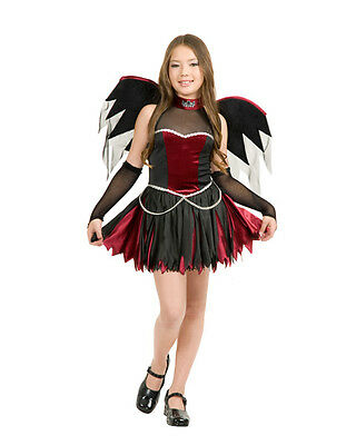 Love at First Bite Twilight Vampire Fancy Dress Halloween Child Costume w/Wings
