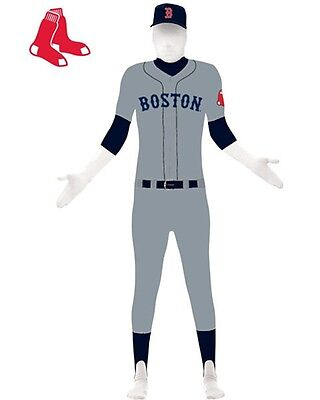 Halloween Costumes Boston (OFFICIAL BOSTON RED SOX SKIN SUIT ADULT HALLOWEEN COSTUME MEN'S SIZE)