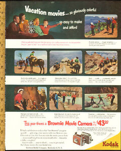 1956 large authentic magazine ad for Kodak Brownie Movie Camera