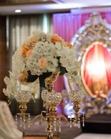 RENT Flowers & Gold Candelabras for Weddings & Birthday Decor