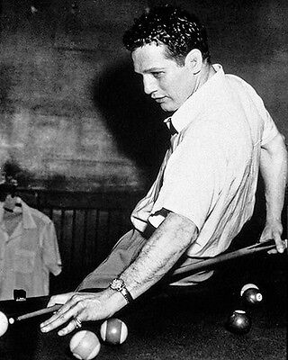 "Paul Newman~Hustler~Billiards~#7~Shooting Pool~Playing Pool~Photo~Poster 16""x20"""