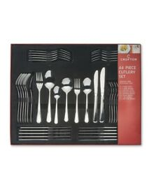 Bargain NEW Clearance Reduced Crofton 18/10 Stainless Steel 44 Piece Cutlery Set Smoke Pet Free Home