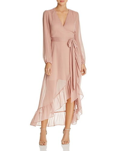 WAYF Only You Ruffle Wrap Dress Size S #D114 MSRP $128.00