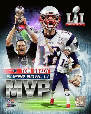 Tom Brady New England Patriots Super Bowl Li Mvp Photo Tu131  Size 8  X 10