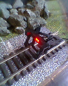 HORNBY 00 MODEL DCC TRAIN TRACK  LAYOUT BUFFER STOP WITH WIRELESS RED LED