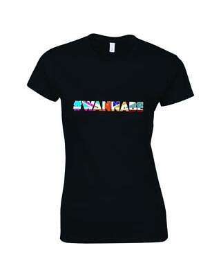 Wannabe Union Jack Ladies Printed Slogan T-Shirt Inspired By The Spice Girls