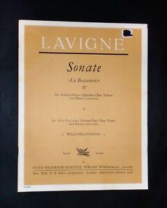Musica-Spartiti-P-Lavigne-Sonate-034-La-Beaumont-034-IV-Alto-recorder-and-b-c