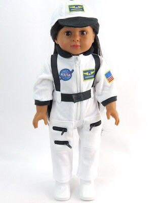 White Nasa Inspired Outfit Fits 18 American Girl Doll Boy Logan Or Luciana