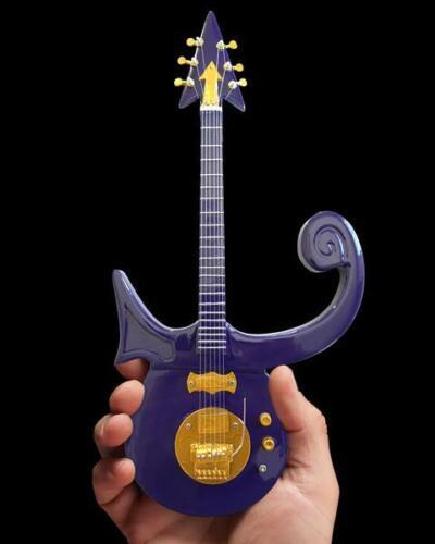 Prince * Signature Purple Symbol Guitar * Miniature Replica NEW
