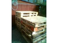 7 pallets great for a shed base