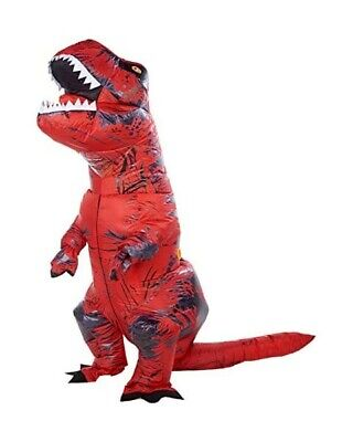 GOOSH Inflatable Dinosaur Costume Riding a T REX Air Blow up Halloween Costume
