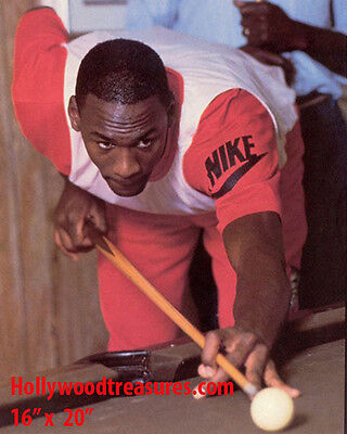 "Michael Jordan~Playing Pool~Shooting Pool~Billiards~Poster~16"" x 20"" Photo"