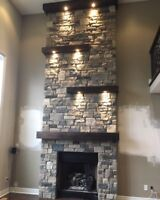 Fireplace Renovation and custom stonework