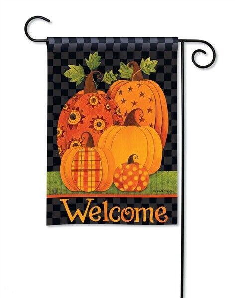 Flag Welcome Patterned Pumpkins Garden Yard Patio House Bann