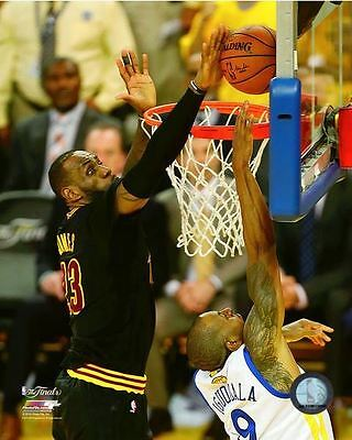 Lebron James The Block Cleveland Cavs 2016 Nba Champions  8X10 Licensed Photo