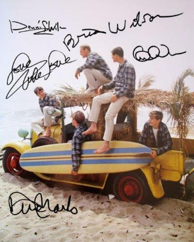 REPRINT - BEACH BOYS Brian - Carl - Dennis Wilson Brothers Signed 8x10 Photo RP