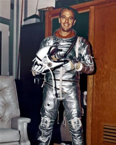 New 8x10 NASA Photo: Astronaut Alan Shepard, First American in Space - 1963
