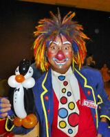 clown ou magicien professionnel pour fête d'enfants