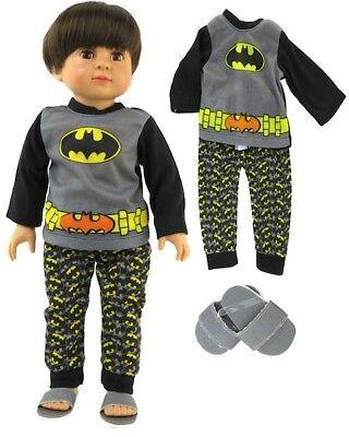 Batman Pajamas or Costume for 18 inch Doll Clothes American Girl Boy Go Lovvbugg