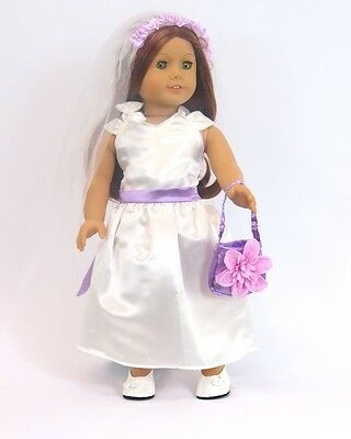 Little Flower Girl 4 piece outfit  for 18'' dolls by American Fashion World New