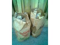 sacks of firewood