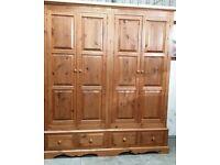 Large Solid Pine Wardrobe No240318
