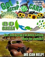 Go green scrap car removal .com cash on the spot free tow