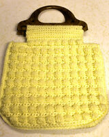 cream yellow carry bag with handles