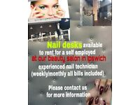 Nail desks, beauty rooms available to rent in Ipswich