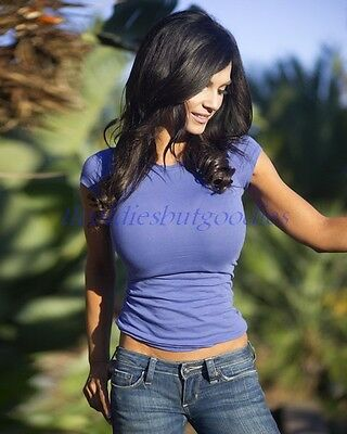 DENISE MILANI SEXY GREAT CLEAVAGE BIKINI EXOTIC BEAUTIFUL MODEL PHOTO EBLD O0429
