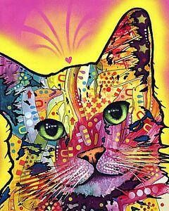CAT ART PRINT Tilt Cat Dean Russo
