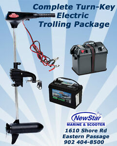 SAVE $150 Transom Electric 45LB Trolling Motor Package