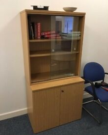 Beech Glass Display Cabinet