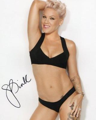 Reprint   Pink Alecia Moore Hot Autographed Signed 8 X 10 Glossy Photo